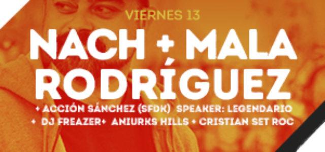 El hip-hop domina la velada del viernes. Nach y Mala Rodríguez en Alicante.
