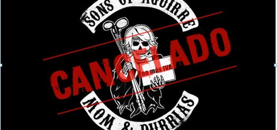 Sons Of Aguirre – Cancelación próximos conciertos