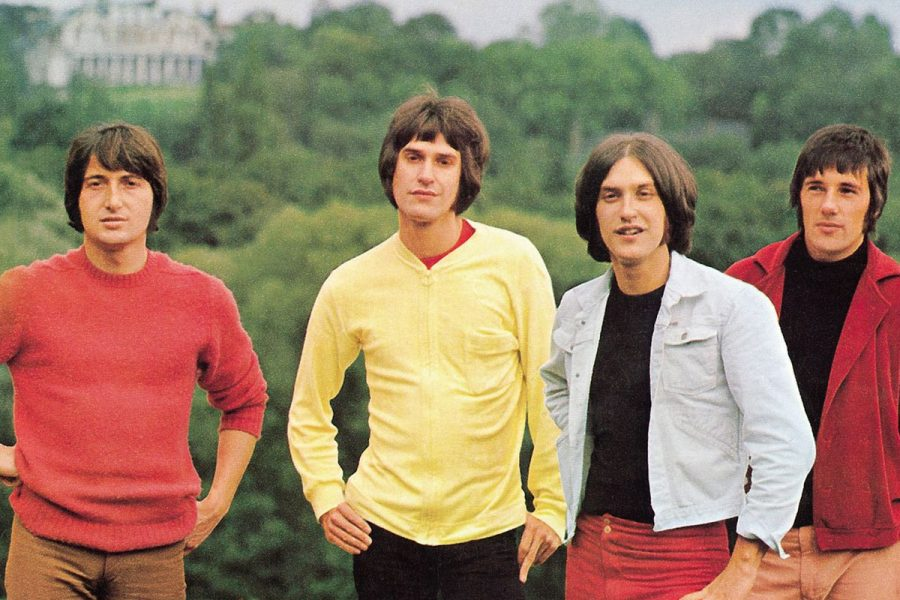 A photo of the group The Kinks in 1970.