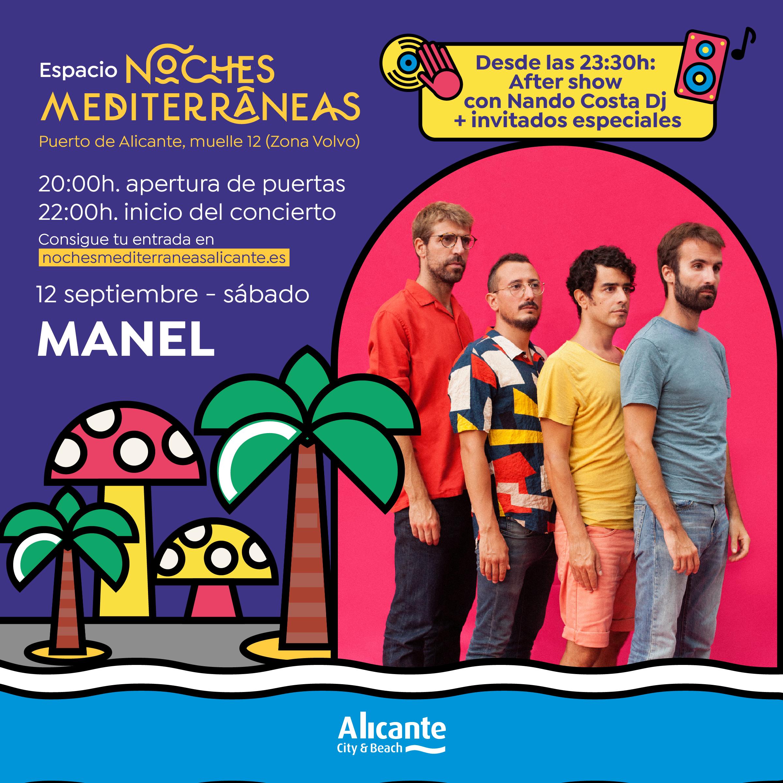 Manel 12 septiembre Noches Mediterráneas Alicante