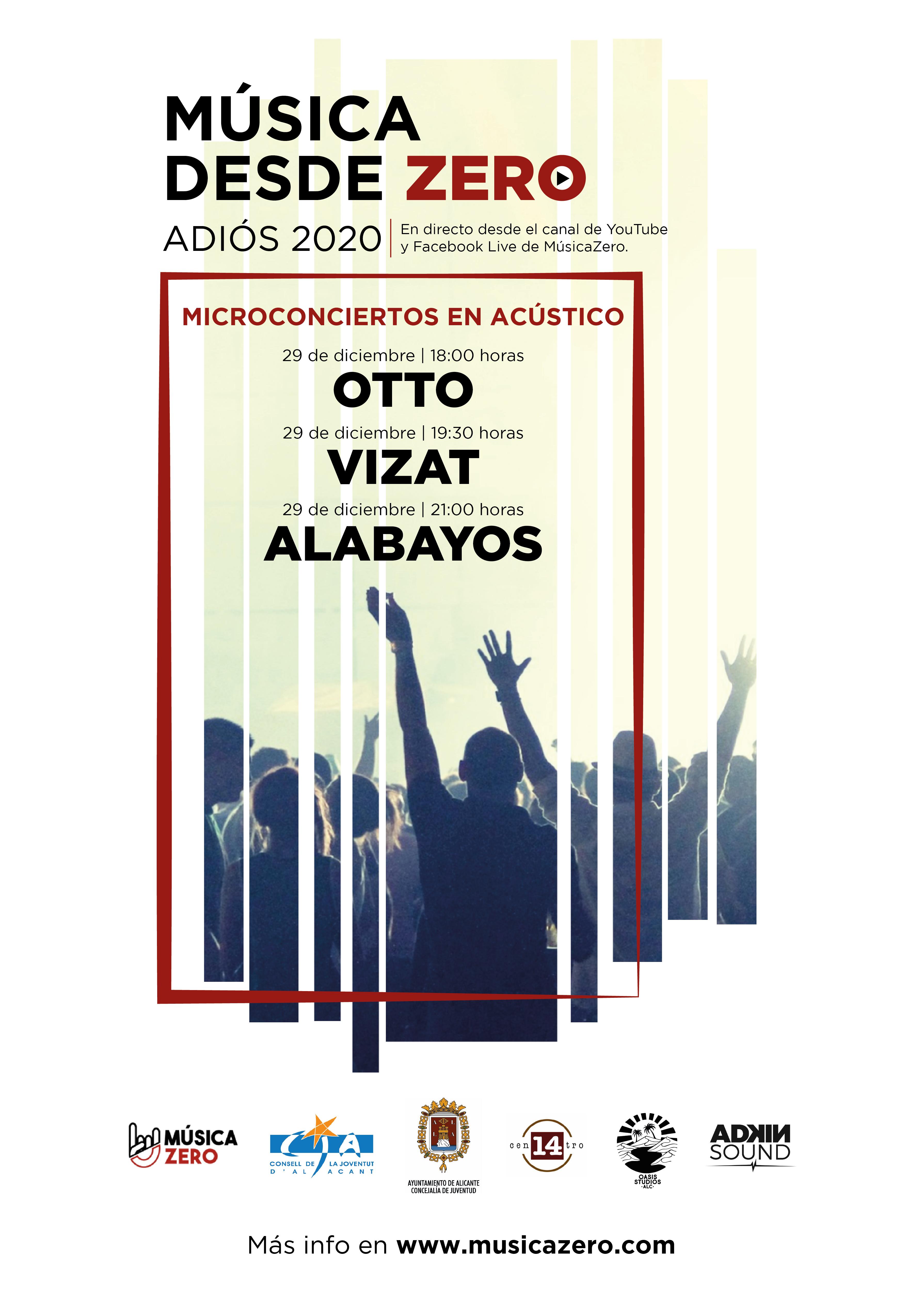 Conciertos Música desde Zero #Adiós2020