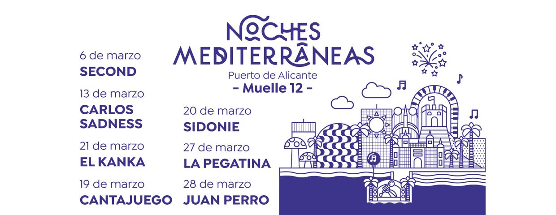 Programación de Noches Mediterráneas marzo 2021