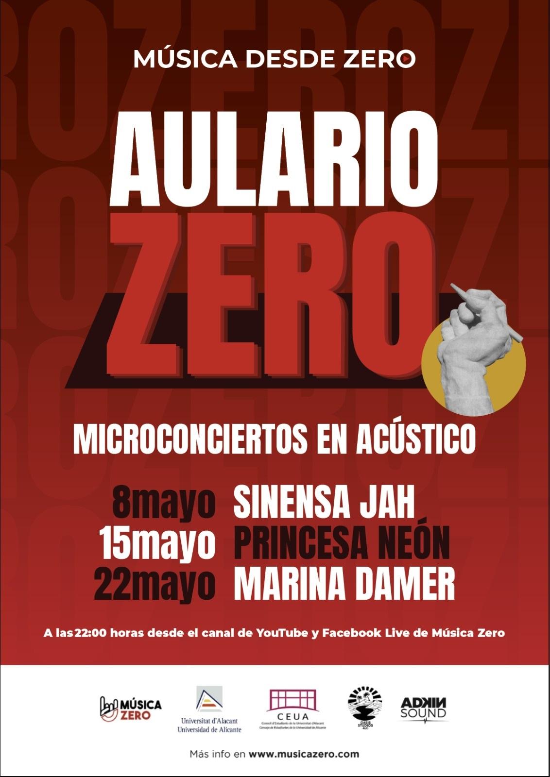 Cartel AularioZero - Música Zero - Música desde Zero